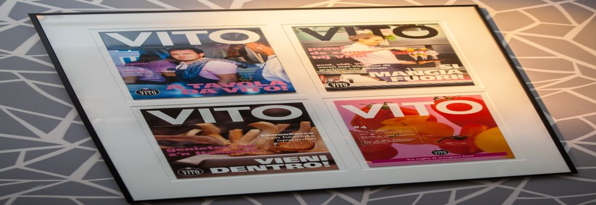Restaurant Vito - covers vorige magazines